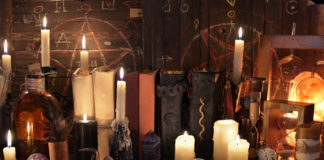 Magic objects, books and candles